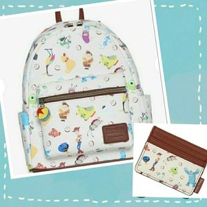 NWT Loungefly Pixar 25th Mini Backpack Set